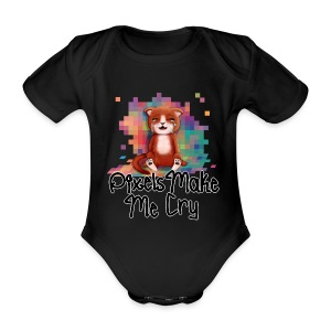 Pixel's Make Me Cry - Organic Short-sleeved Baby Bodysuit