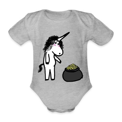 Oro unicorno - Body ecologico per neonato a manica corta