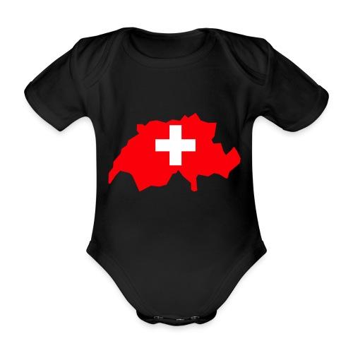 Switzerland - Baby bio-rompertje met korte mouwen