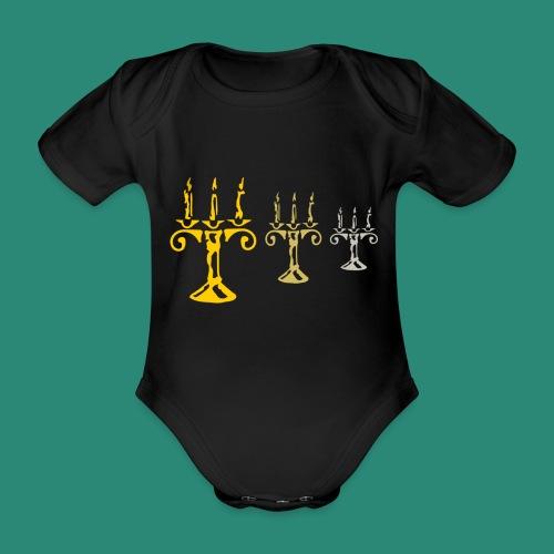 edles Kerzenlicht - Baby Bio-Kurzarm-Body