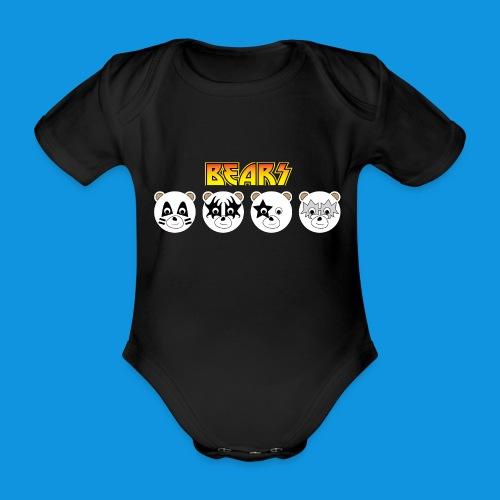 Kiss Bears.png - Organic Short-sleeved Baby Bodysuit
