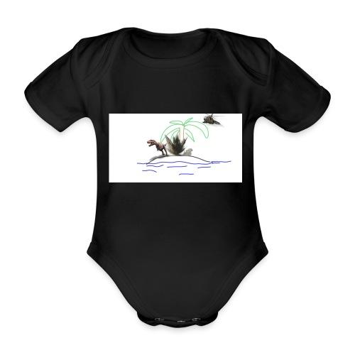 dino - Body orgánico de manga corta para bebé