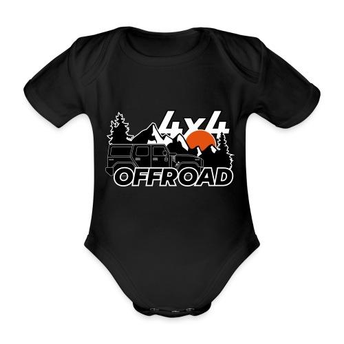 Offroad 4x4 Jeep Logo - Baby Bio-Kurzarm-Body