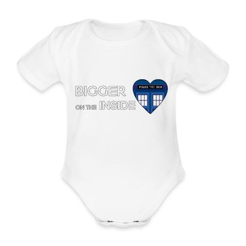 Tardis Heart - Organic Short-sleeved Baby Bodysuit