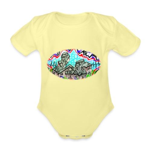 Across the Tracks Blur - Organic Short-sleeved Baby Bodysuit