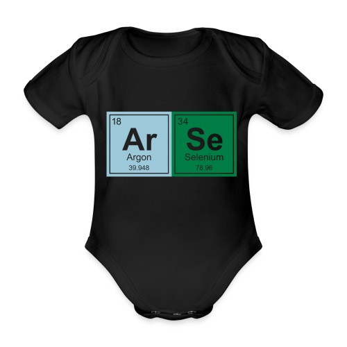 Geeky Arse Periodic Elements - Organic Short-sleeved Baby Bodysuit