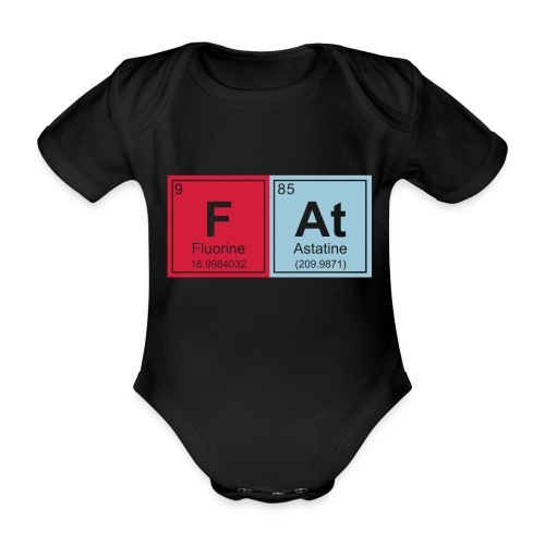 Geeky Fat Periodic Elements - Organic Short-sleeved Baby Bodysuit