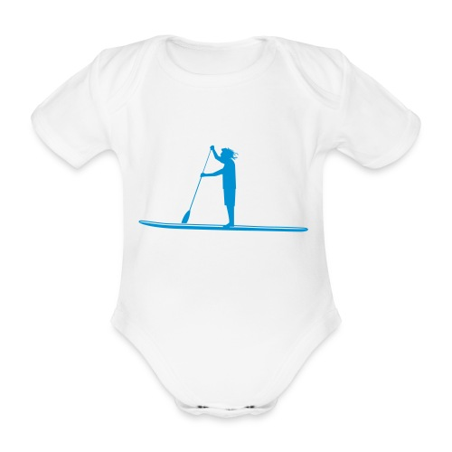 Stand-up Sihlouette - Baby Bio-Kurzarm-Body