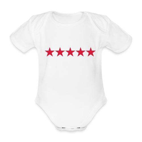 Rating stars - Vauvan lyhythihainen luomu-body