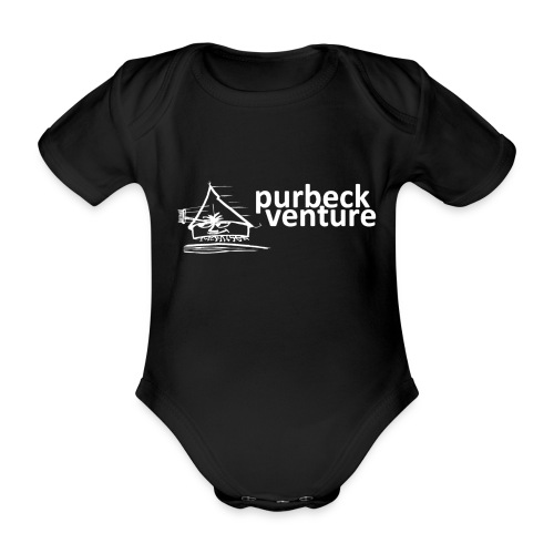 Purbeck Venture Active white - Organic Short-sleeved Baby Bodysuit