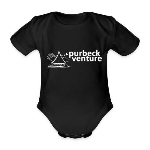Purbeck Venture Sleepy white - Organic Short-sleeved Baby Bodysuit
