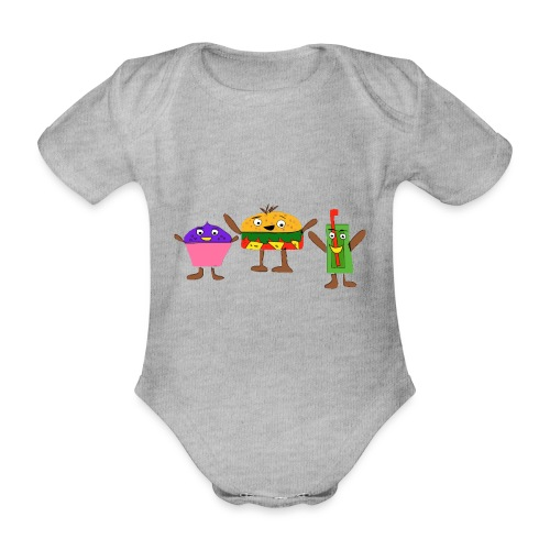 Fast food figures - Organic Short-sleeved Baby Bodysuit