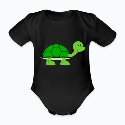 Totte Turtle - Appelsin - Ekologisk kortärmad babybody