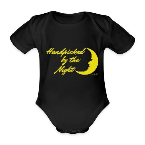 Handpicked design By The Night - Logo Yellow - Organic Short-sleeved Baby Bodysuit