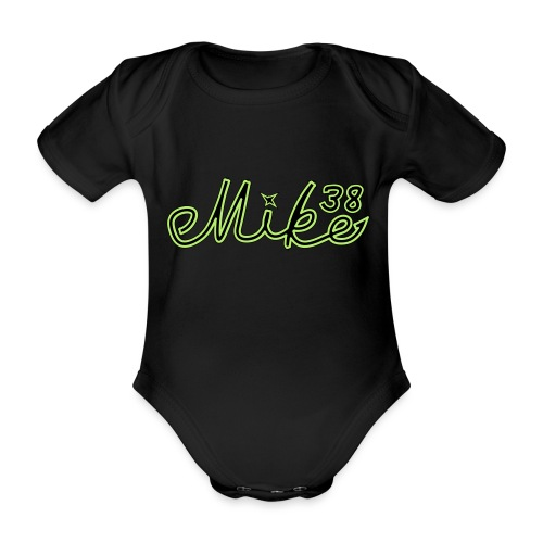 mike38teksti - Vauvan lyhythihainen luomu-body