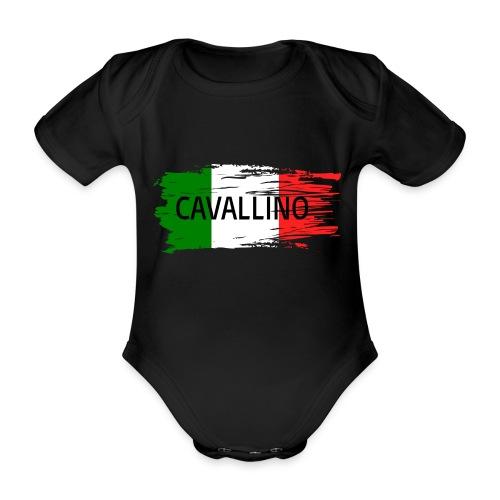 Cavallino auf Flagge - Baby Bio-Kurzarm-Body