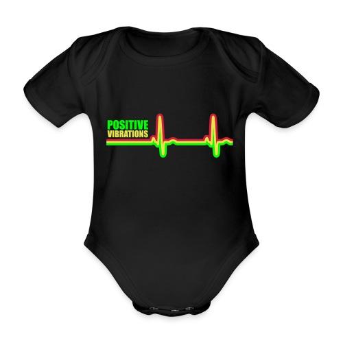 POSITIVE VIBRATION - Organic Short-sleeved Baby Bodysuit