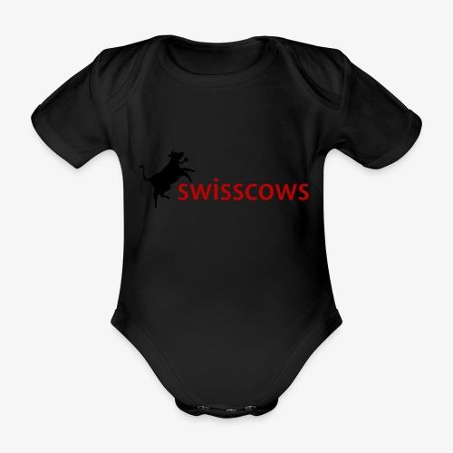 Schwarz-Rot Hoodie - Baby Bio-Kurzarm-Body