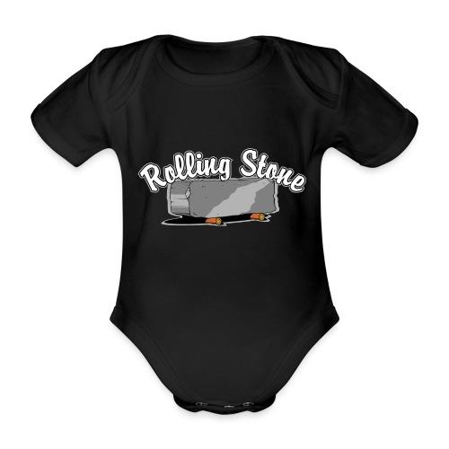 roll, stone, concrete, - Ekologiczne body niemowlęce z krótkim rękawem