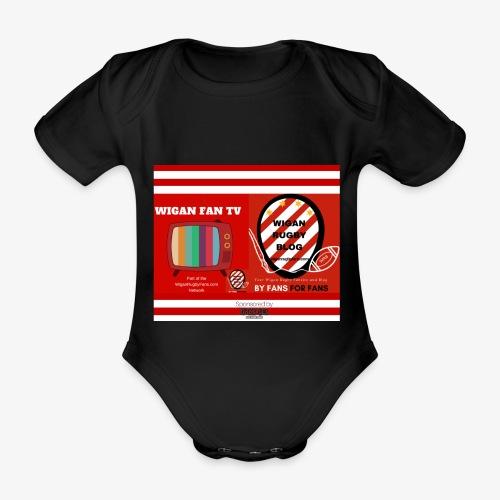 Sponsored by Logo - Organic Short-sleeved Baby Bodysuit
