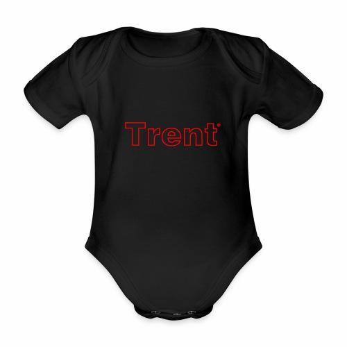 TRENT classic red - Organic Short-sleeved Baby Bodysuit