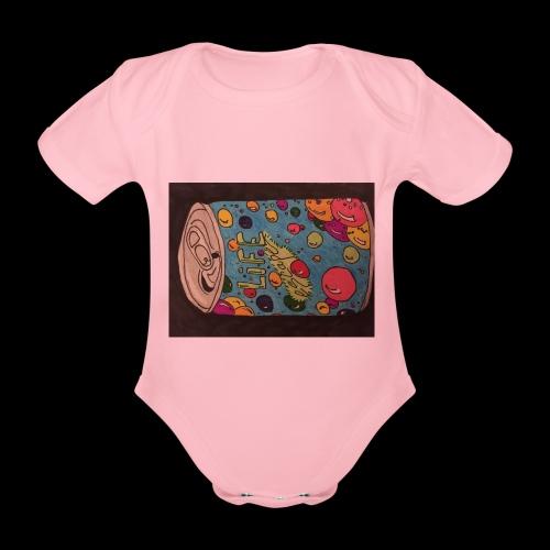 7AABC614 53CA 4156 B765 D9FBF5B8E496 - Kortærmet babybody, økologisk bomuld
