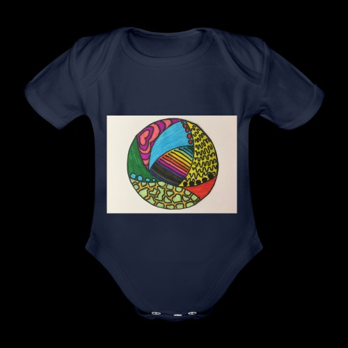 circle corlor - Kortærmet babybody, økologisk bomuld