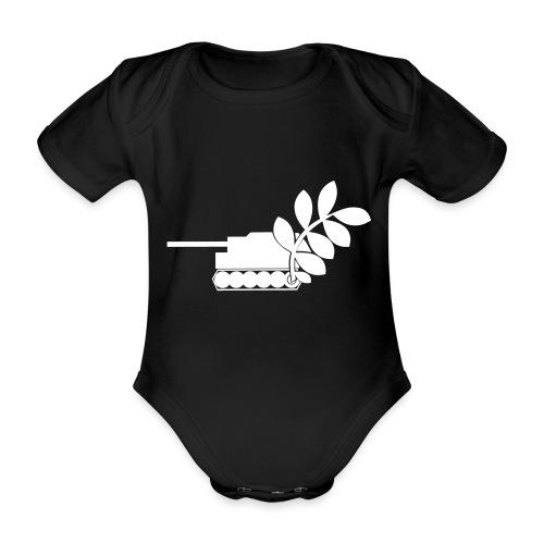 Global Campaign on Military Spending Logo v1 - Organic Short-sleeved Baby Bodysuit