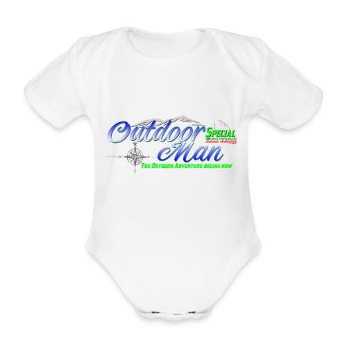 Special Edition Outdoor Man Wandern Vatertag - Baby Bio-Kurzarm-Body