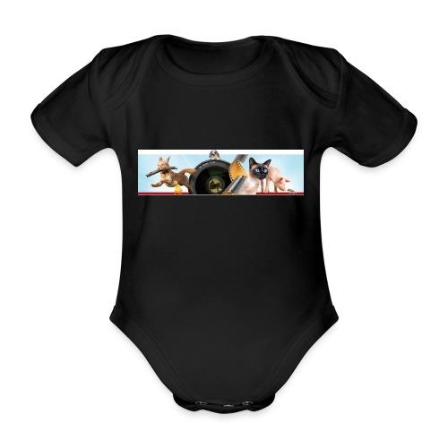 Animaux logo - Baby bio-rompertje met korte mouwen