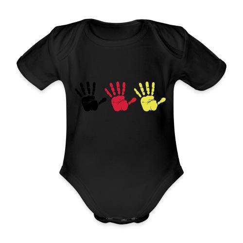 Handabdruck Trio - Baby Bio-Kurzarm-Body