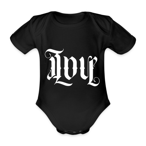 Love and hate - Organic Short-sleeved Baby Bodysuit