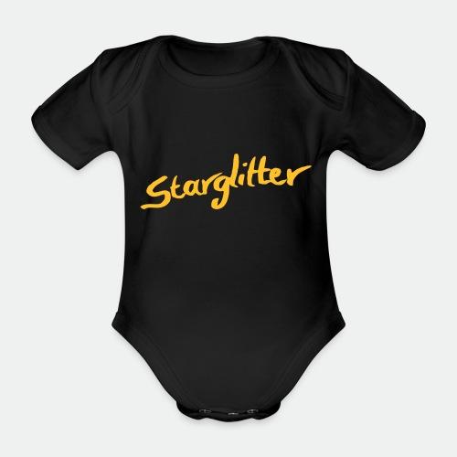 Starglitter - Lettering - Organic Short-sleeved Baby Bodysuit
