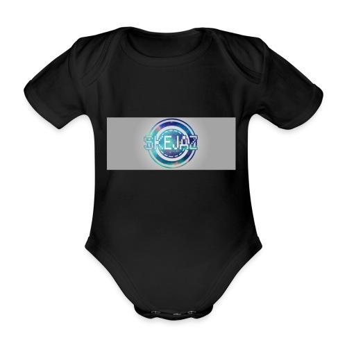 LOGO WITH BACKGROUND - Organic Short-sleeved Baby Bodysuit