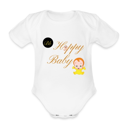 Happy Baby - Billionaire Designs - Organic Short-sleeved Baby Bodysuit