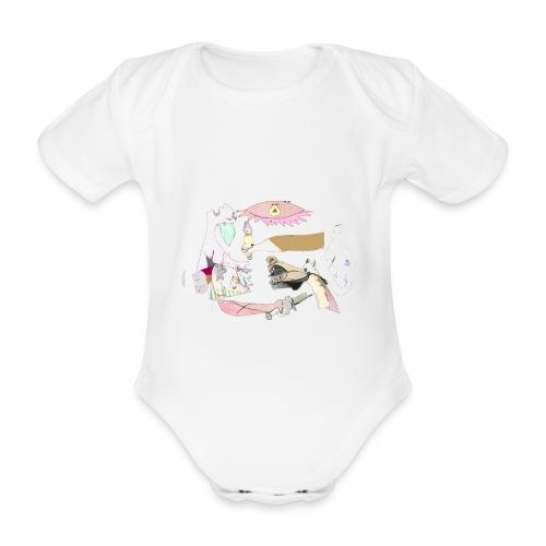 Pintular - Body orgánico de maga corta para bebé