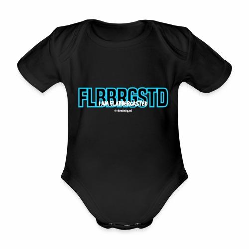 Flabbergasted - Baby bio-rompertje met korte mouwen