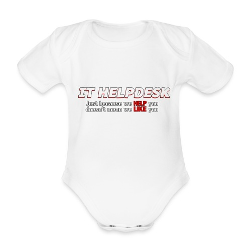 I.T. HelpDesk - Organic Short-sleeved Baby Bodysuit