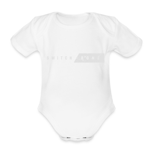 Switchbone_white - Baby bio-rompertje met korte mouwen