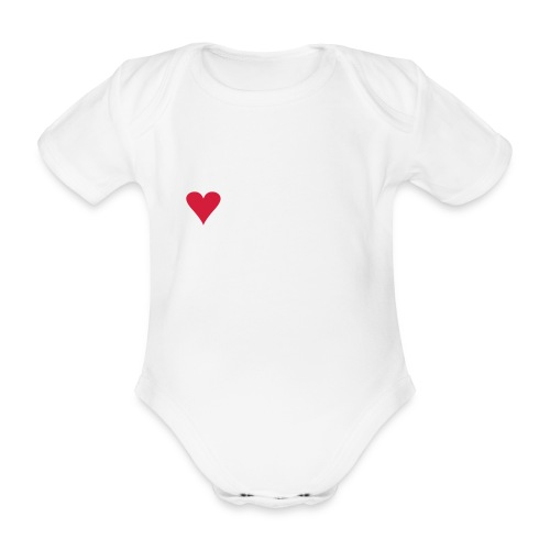 I LOVE VAAKSY - Vauvan lyhythihainen luomu-body