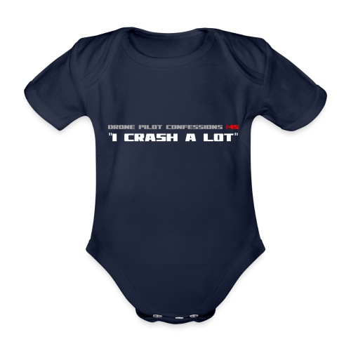 I CRASH A LOT - Organic Short-sleeved Baby Bodysuit