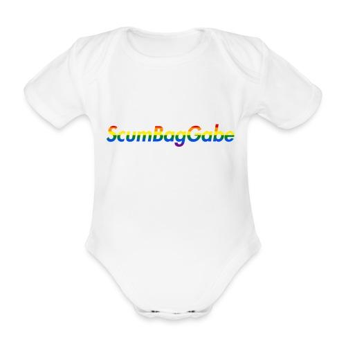 ScumBagGabe Multi Logo XL - Organic Short-sleeved Baby Bodysuit