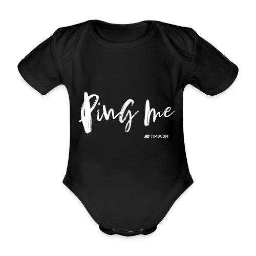 Ping me - Kortærmet babybody, økologisk bomuld