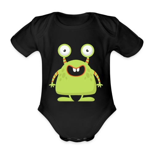 monster1 - Økologisk kortermet baby-body