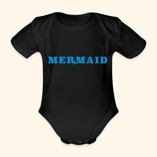 Mermaid logo - Ekologisk kortärmad babybody