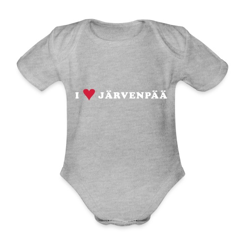 I LOVE JARVENPAA - Vauvan lyhythihainen luomu-body