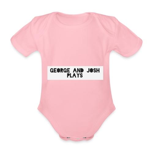 George-and-Josh-Plays-Merch - Organic Short-sleeved Baby Bodysuit