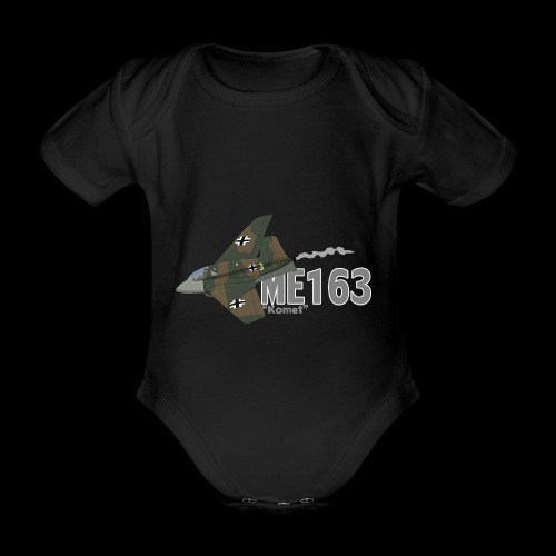 Me 163 Komet (Writing) - Body ecologico per neonato a manica corta