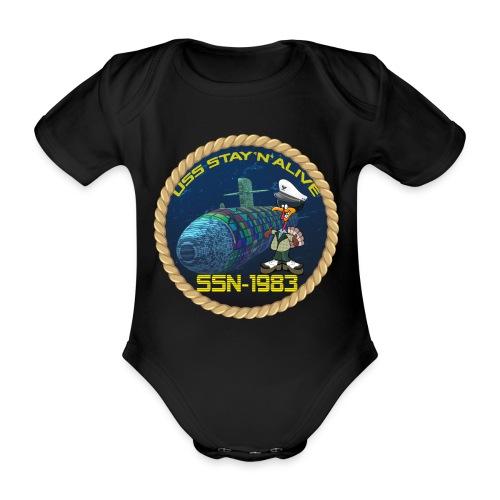 Command Badge SSN-1983 - Organic Short-sleeved Baby Bodysuit