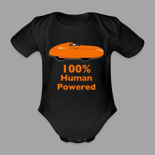 100% human powered - Vauvan lyhythihainen luomu-body